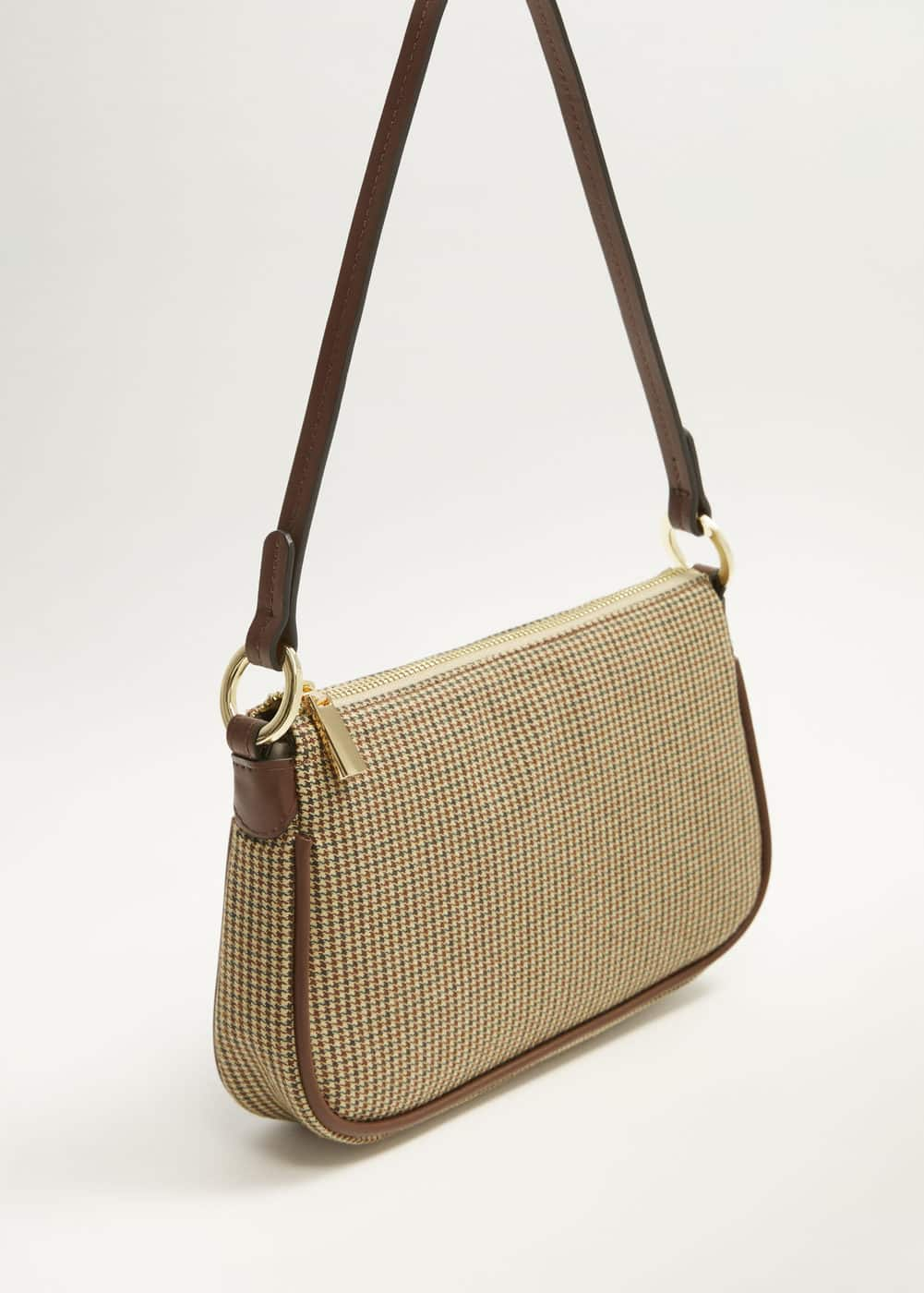Prince Of Wales Baguette Bag by Mango