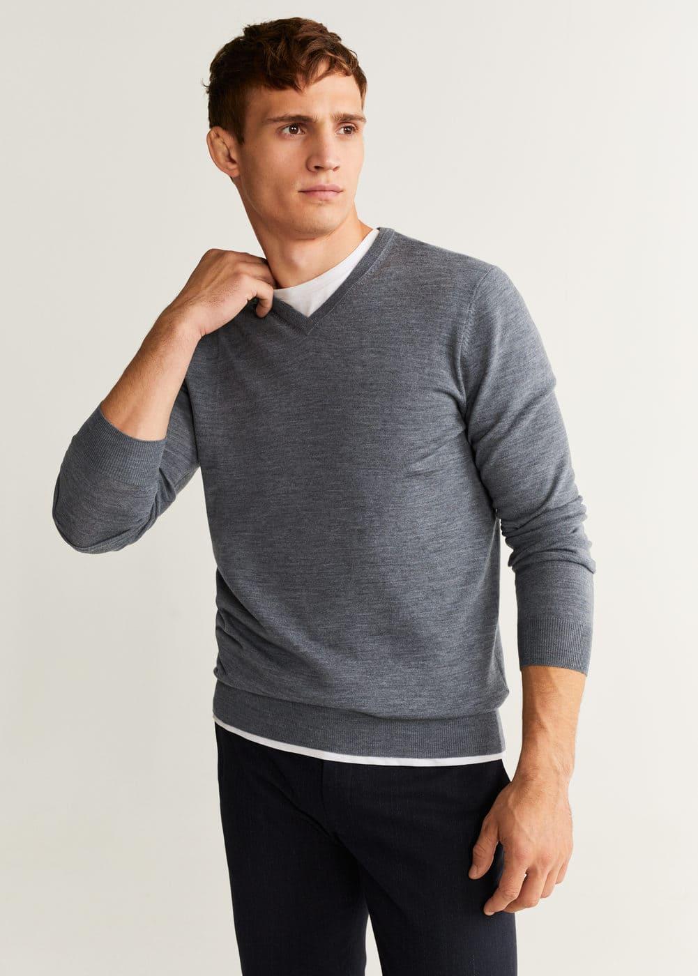 100% Merino Wool Washable Sweater by Mango