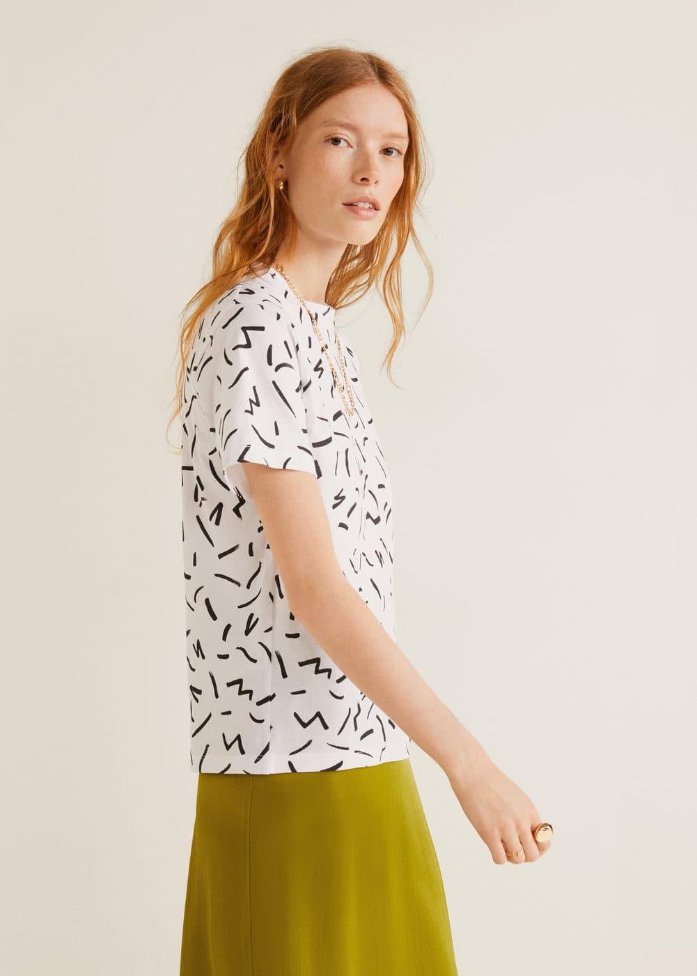 m-chalonew:camiseta estampada algodon