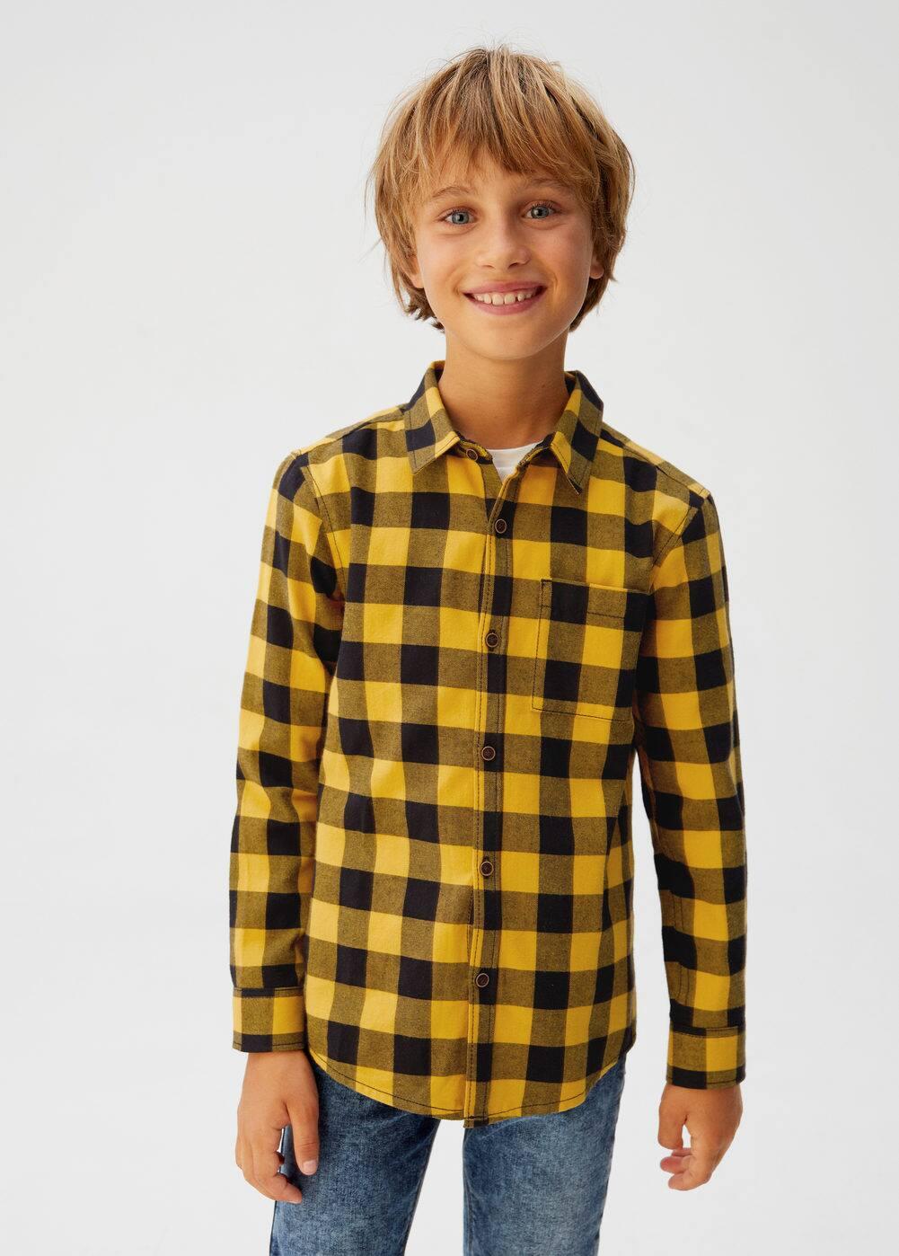 o-moe:camisa cuadros bolsillo