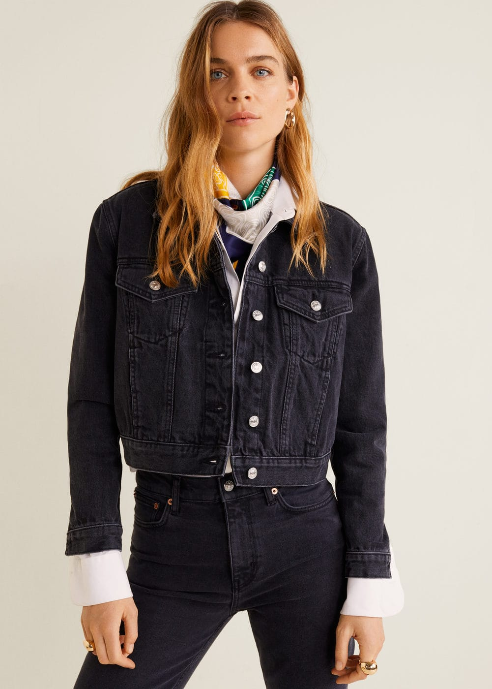628b0defa7 Pocketed denim jacket - Woman | Mango Netherlands