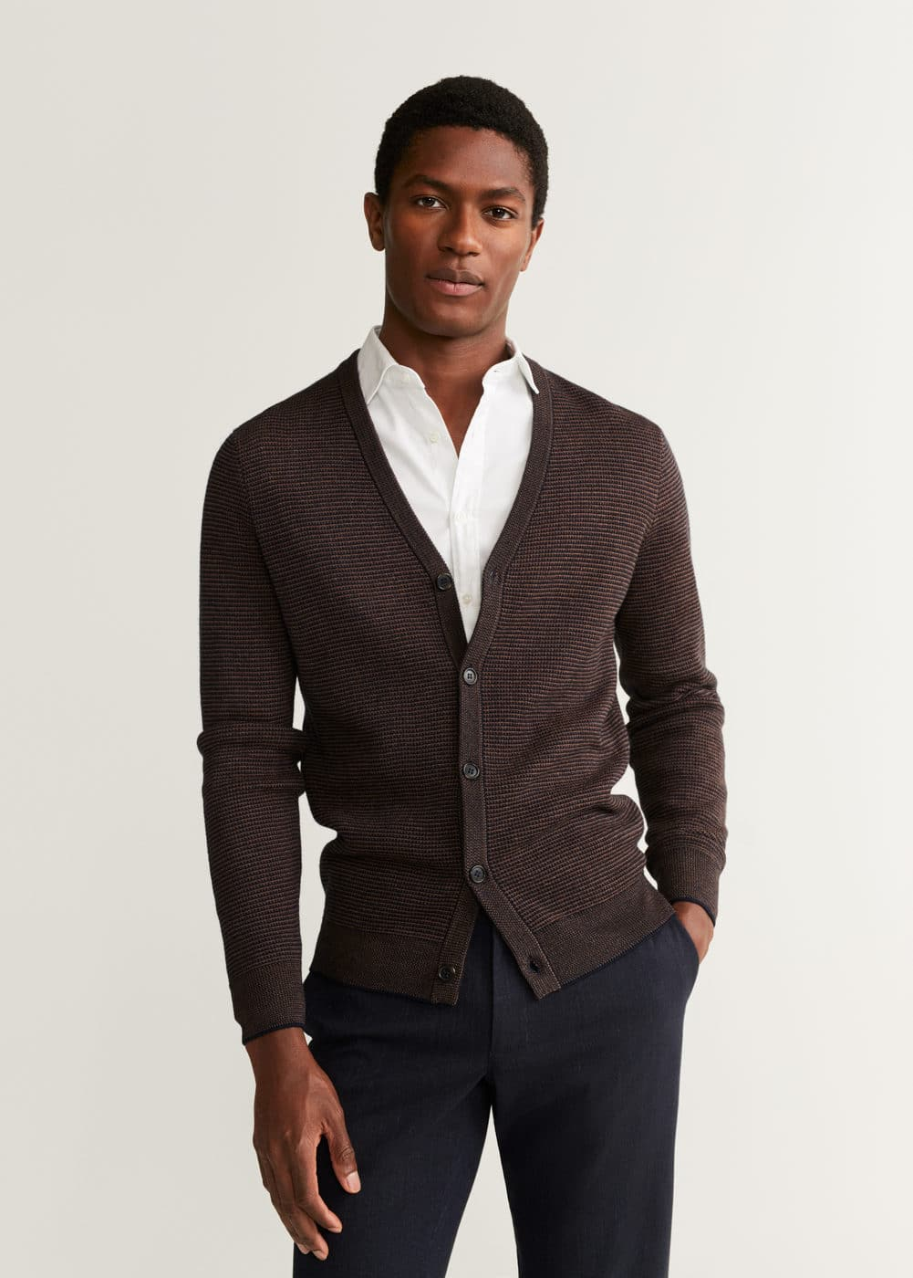 Structured Wool Cardigan by Mango