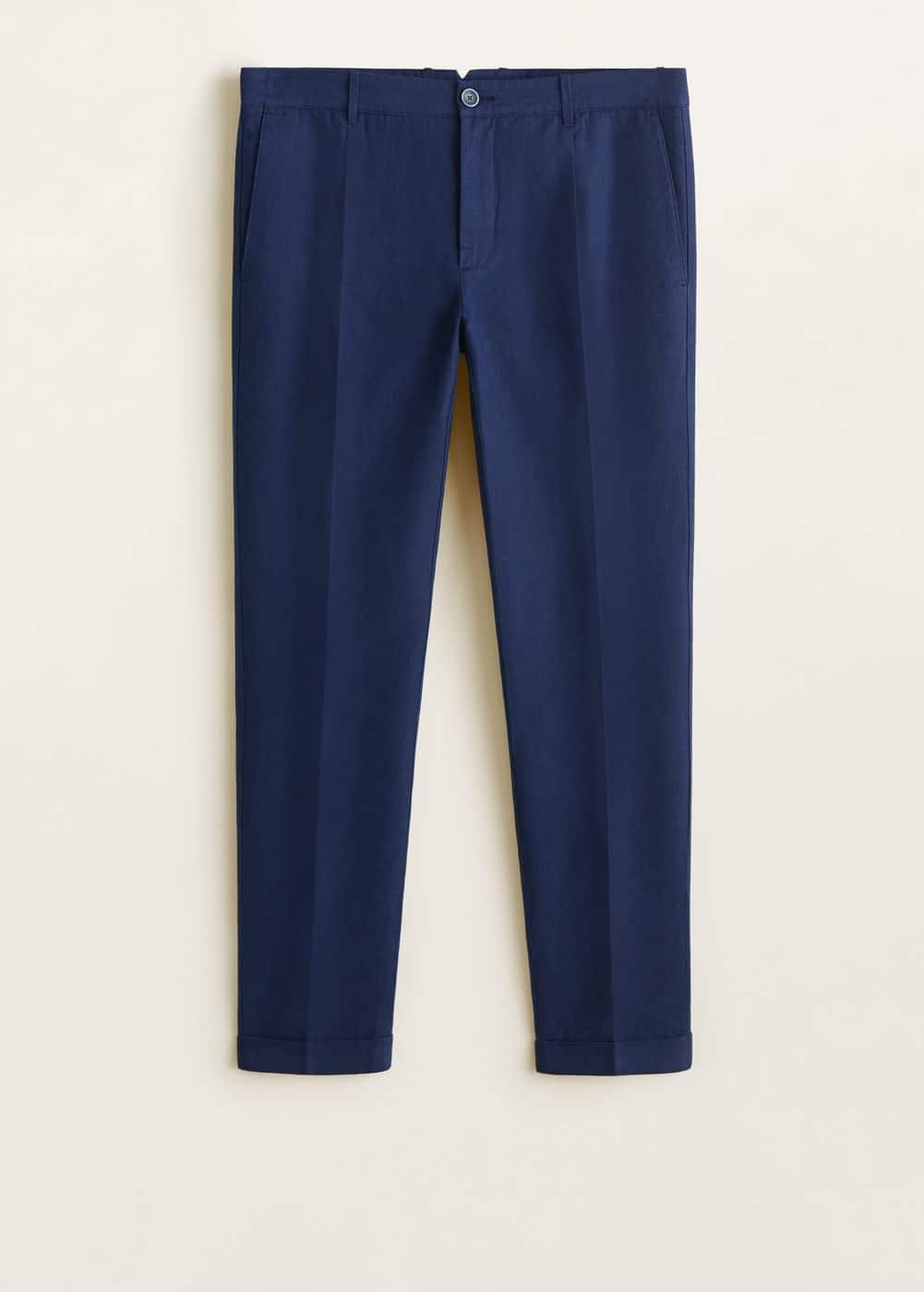 1e27b38e3 Pantalón algodón lino pinzas - Hombre | Mango Man República Dominicana