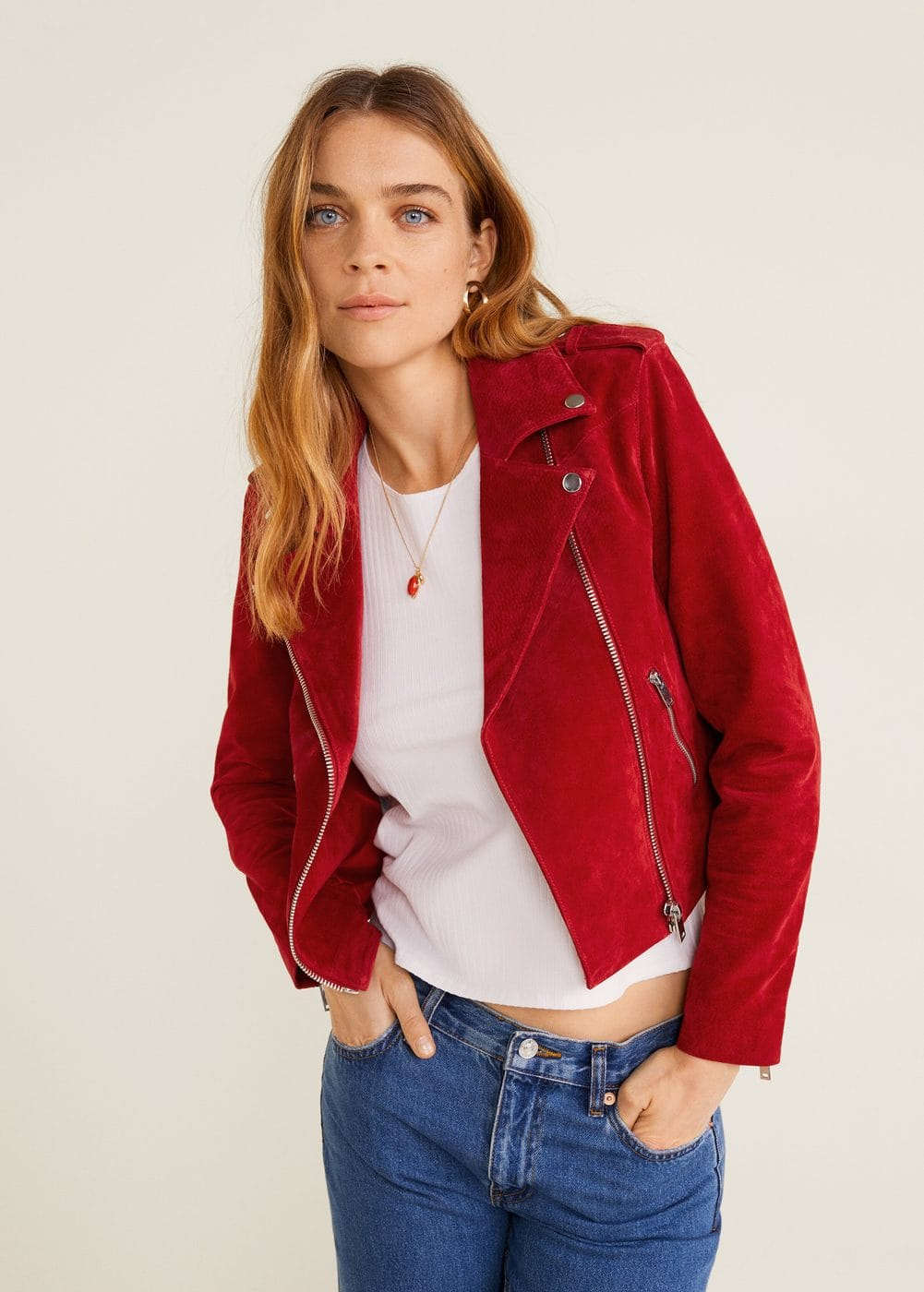 "<Font Style=""Vertical Align: Inherit;""><Font Style=""Vertical Align: Inherit;"">Leather Biker Jacket</Font></Font> by Mango"