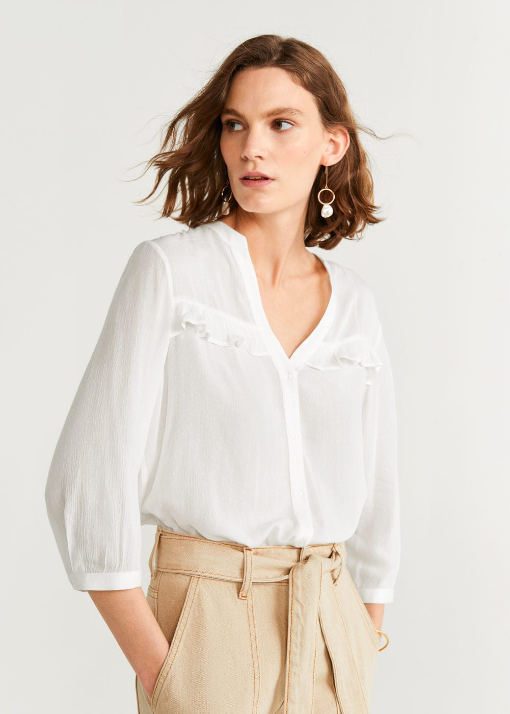 Blouse Volants by Mango
