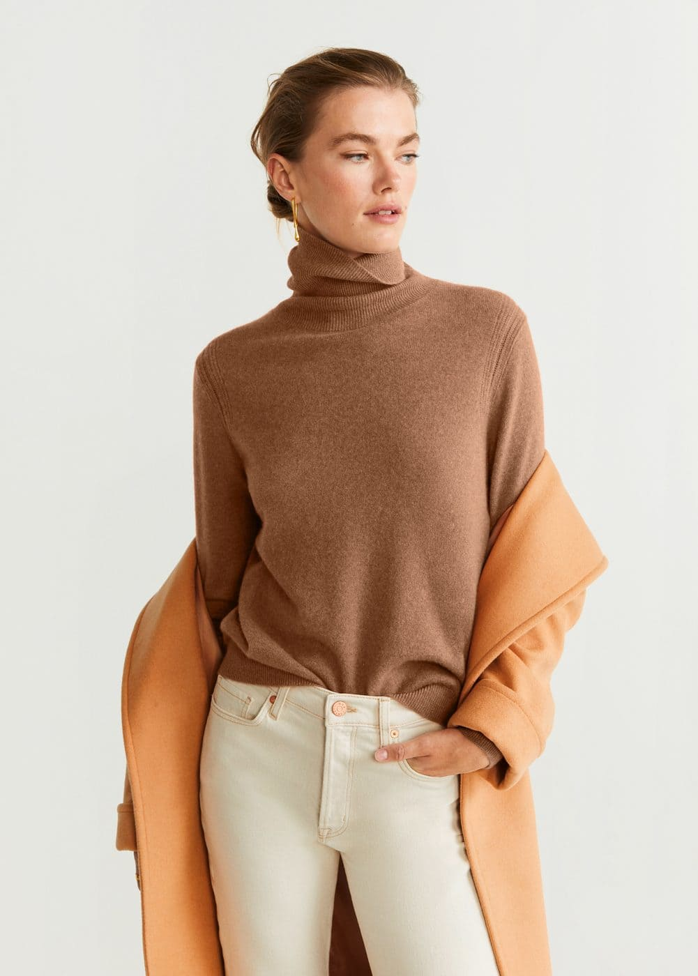 Turtleneck 100% Cashmere Sweater by Mango