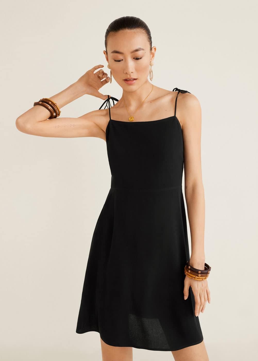 Kleid mit Spaghettiträgern