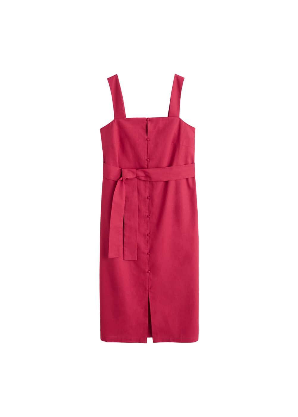 m-megan:vestido lino tirantes