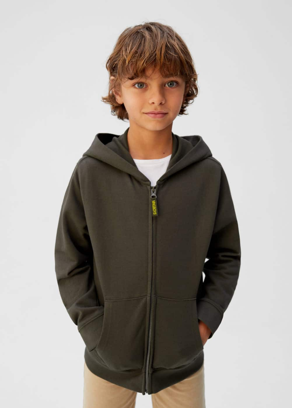 63699f4389 Pocket cotton sweatshirt - Boys | Mango Kids Qatar