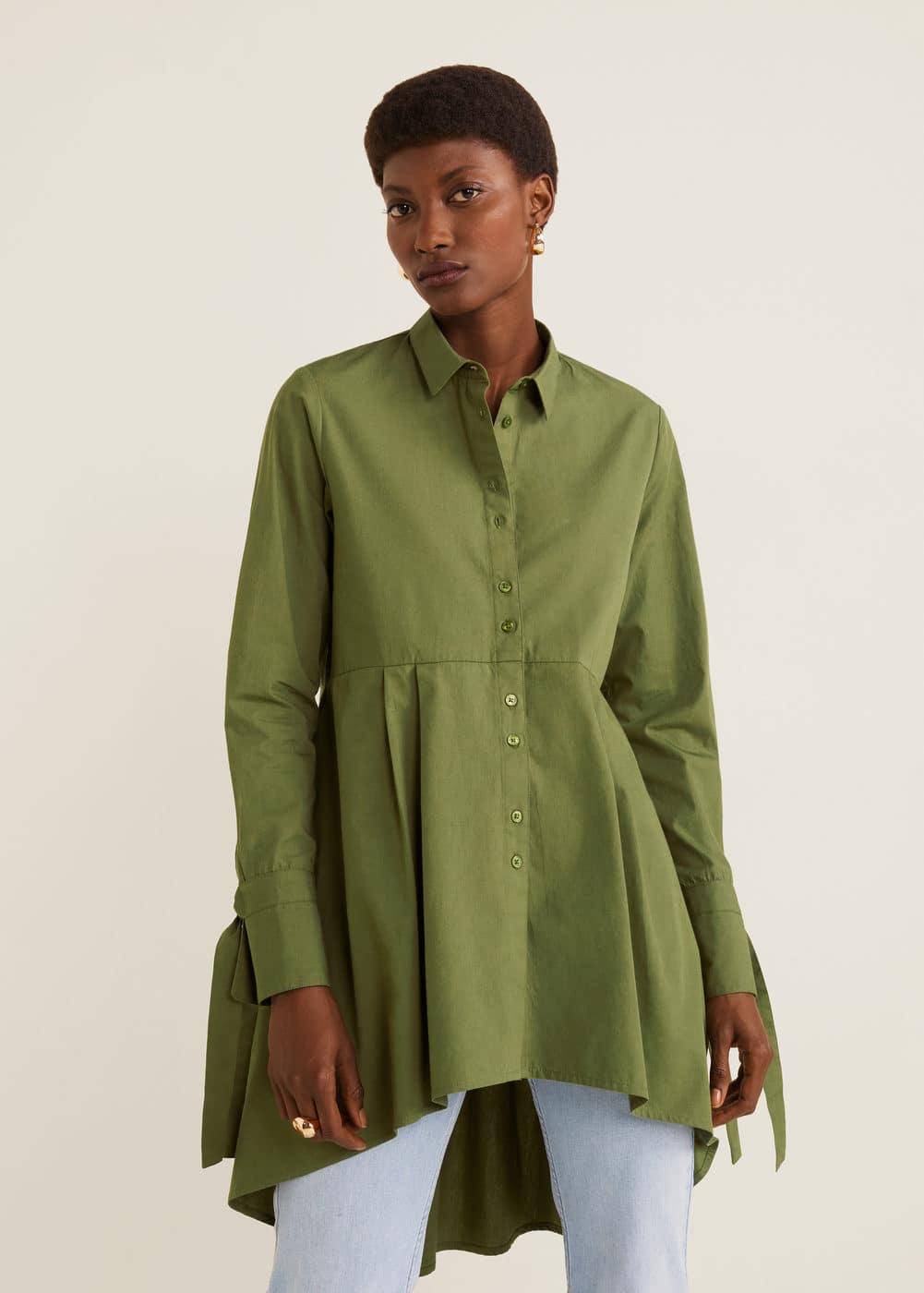 9aae37d057 Kolu fiyonklu bluz - Kadın | Mango Türkiye