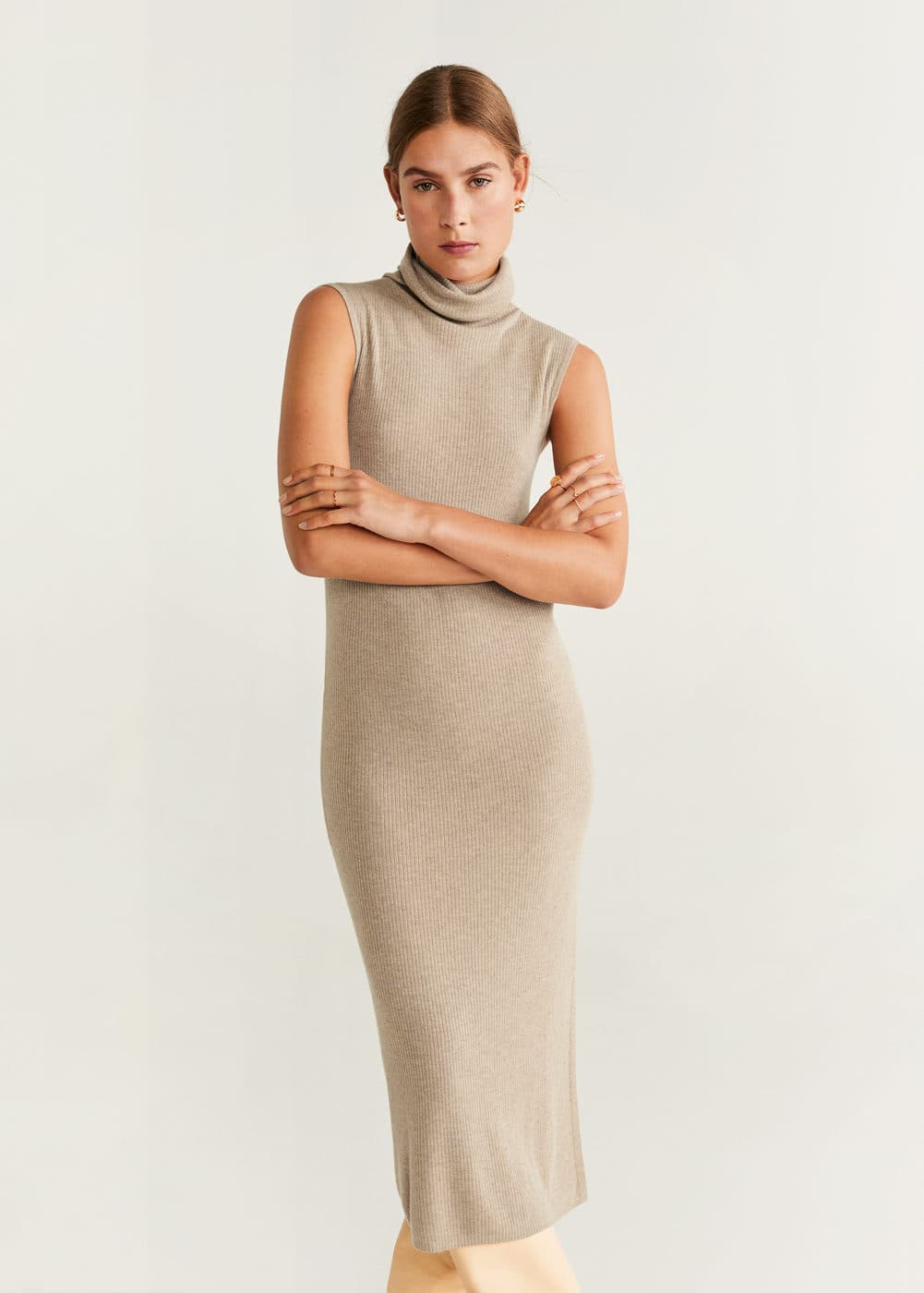Vestido Largo Canalé by Mango