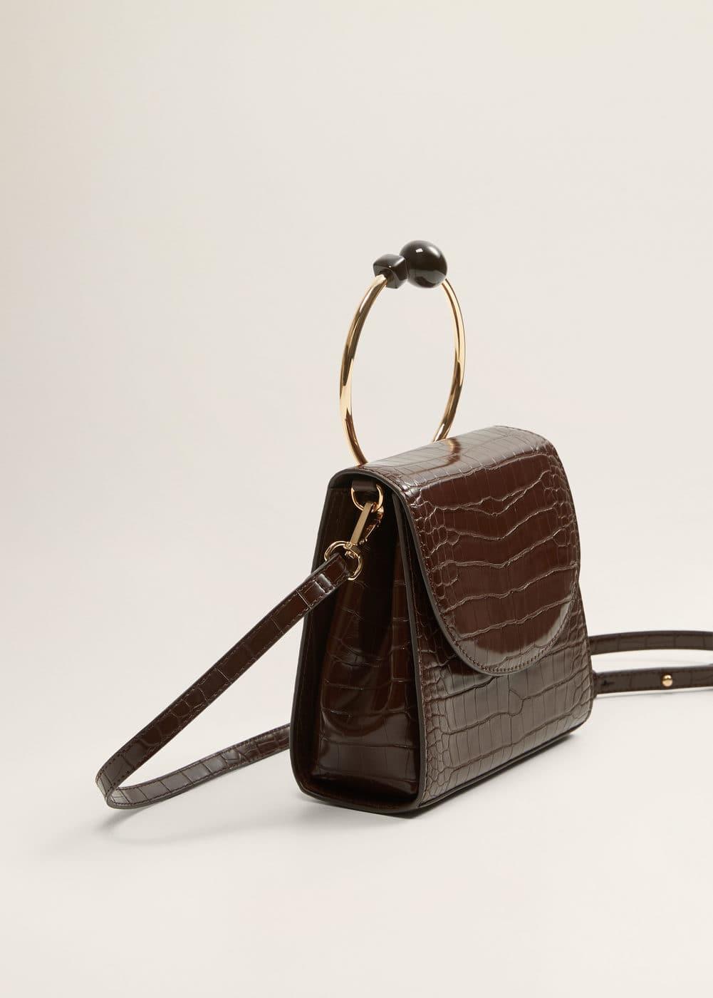 Τσάντα σκληρό χερούλι by Mango
