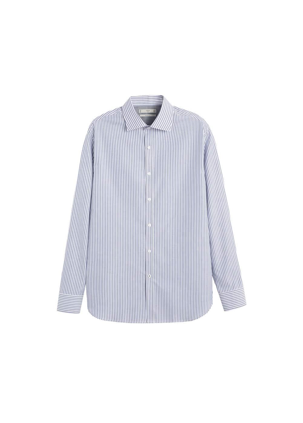 h-kodak:camisa slim fit algodon rayas