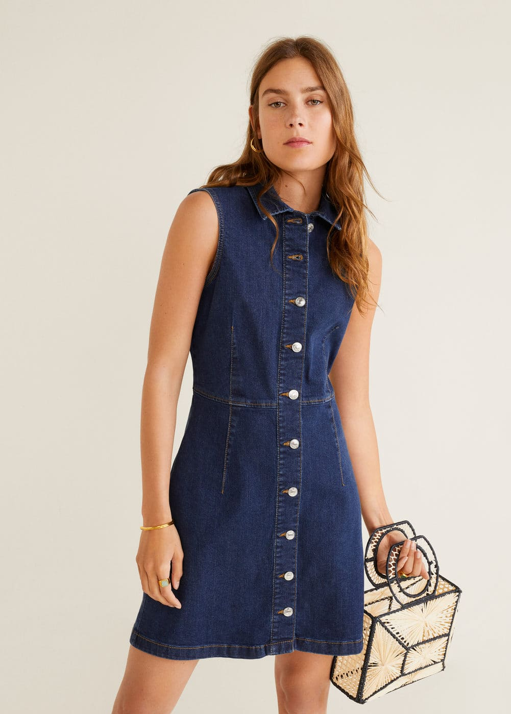 "<Font Style=""Vertical Align: Inherit;""><Font Style=""Vertical Align: Inherit;"">Dress Denim Buttons</Font></Font> by Mango"