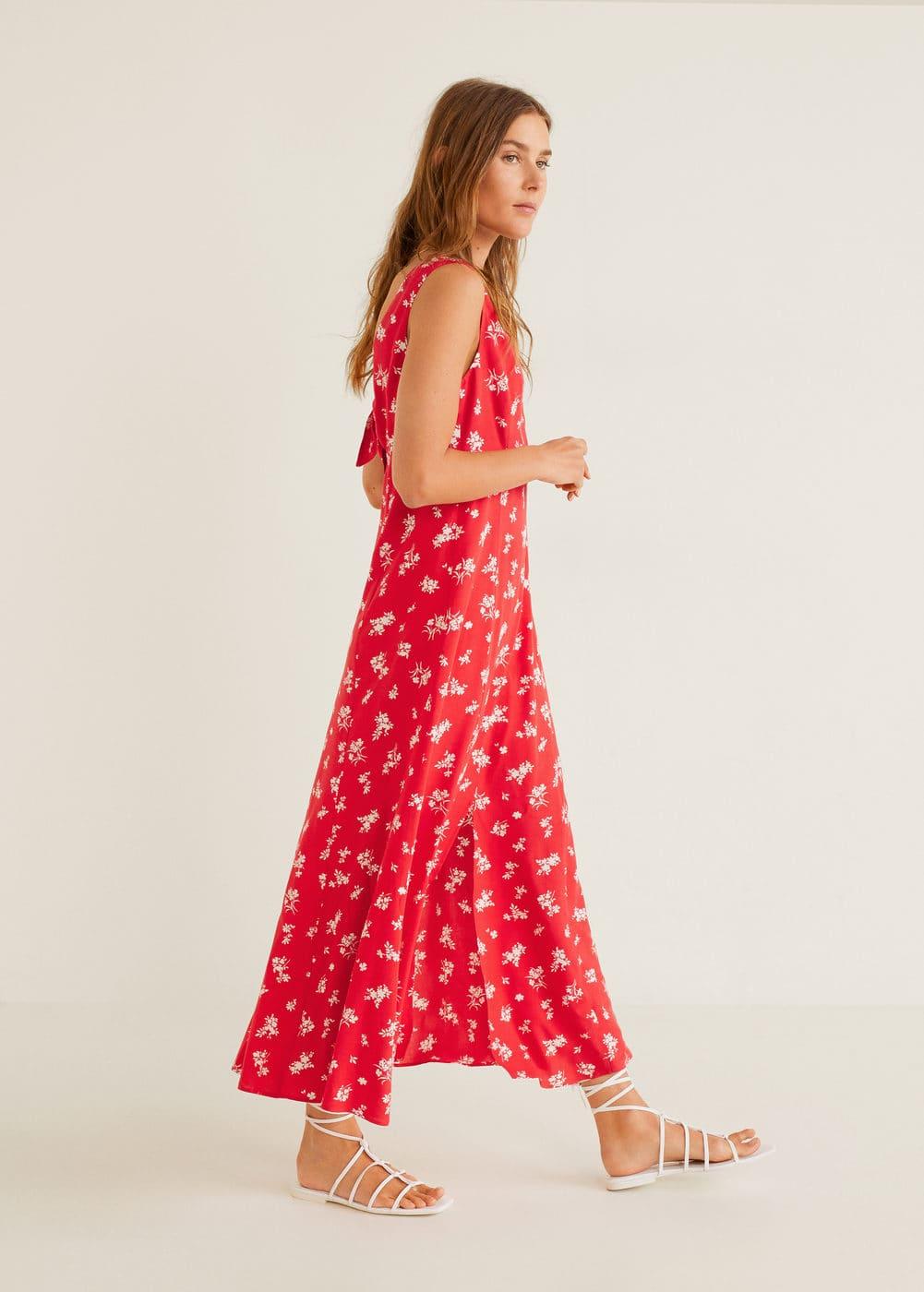 m-ona:vestido largo estampado