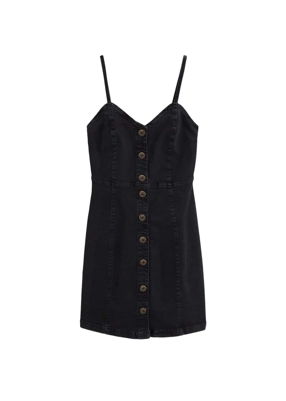 m-boho:vestido denim botones