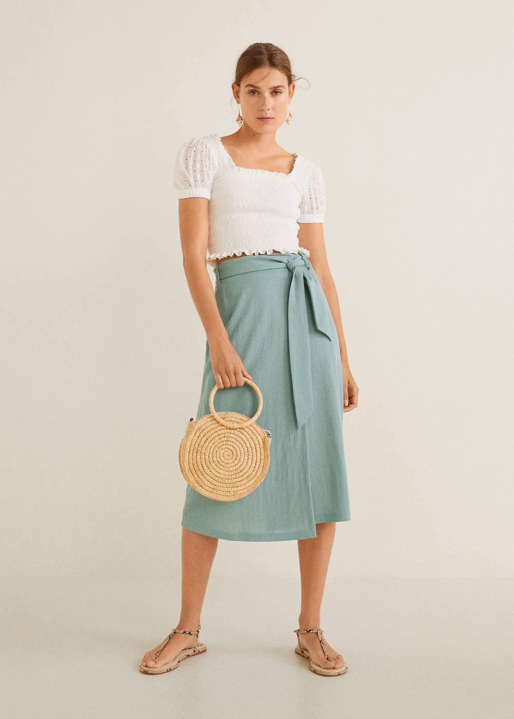 m-blueline:falda cruzada lazo
