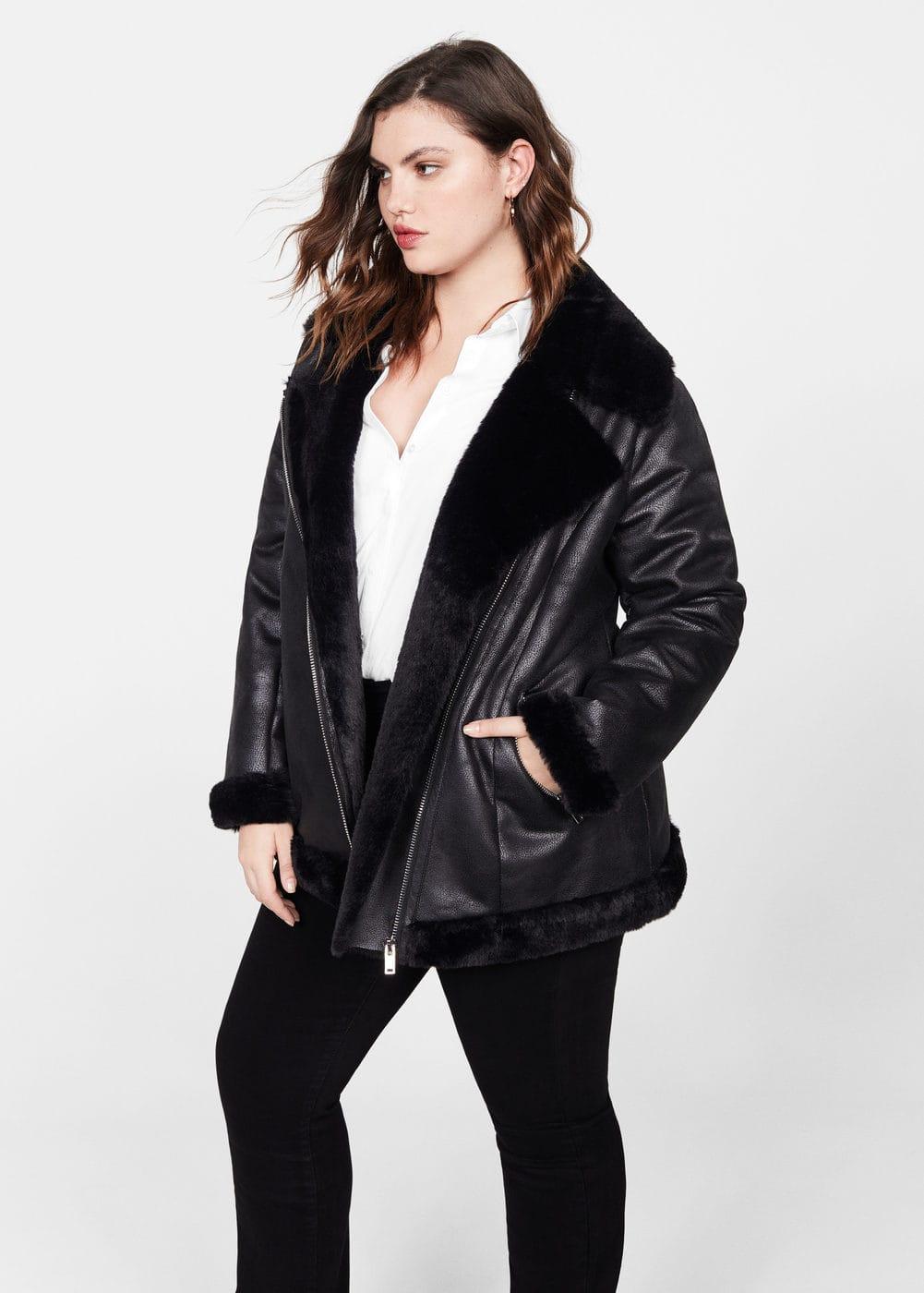 neue Liste wähle das Neueste erstklassig Faux fur biker jacket