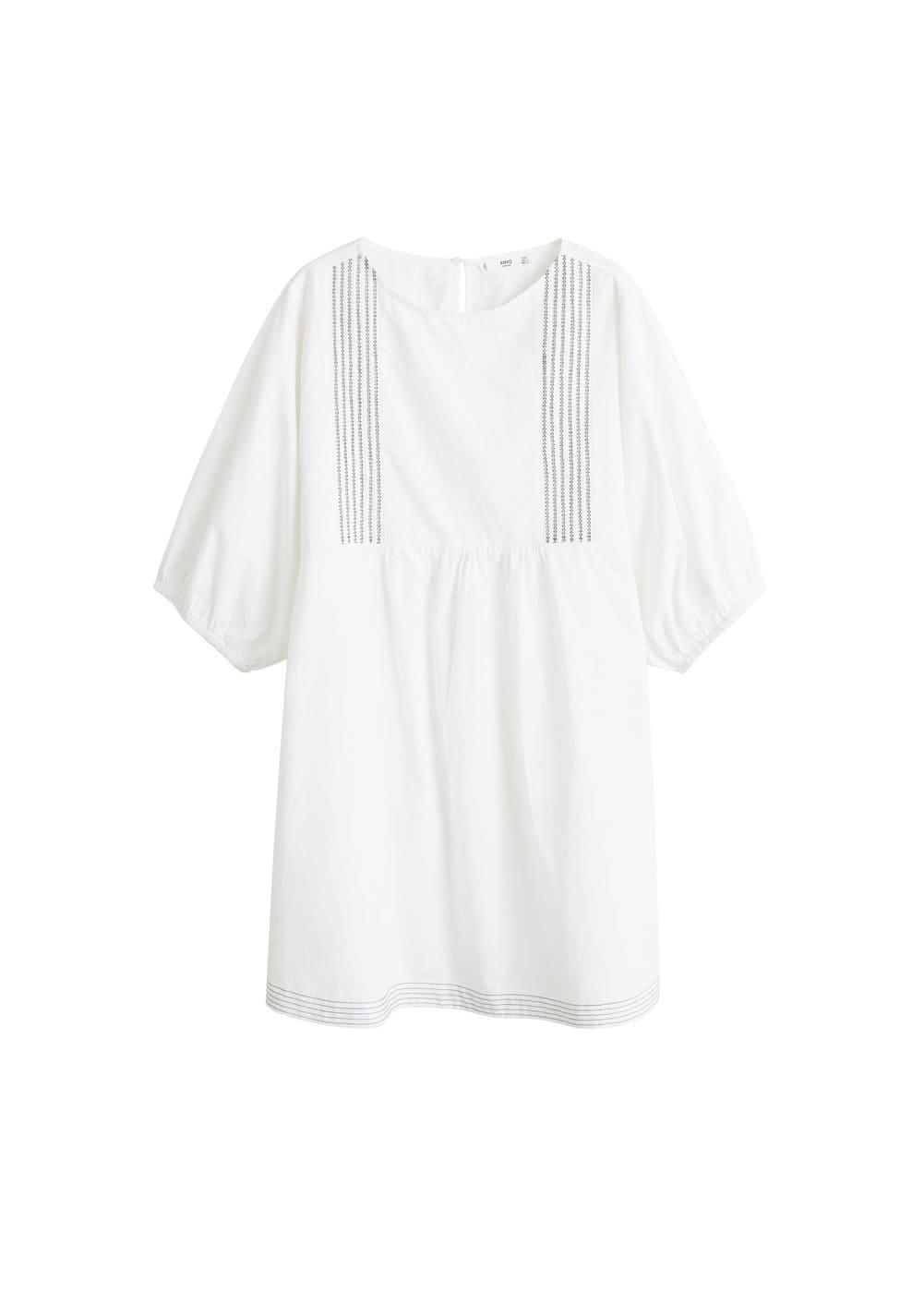m-salt-h:vestido corto bordado