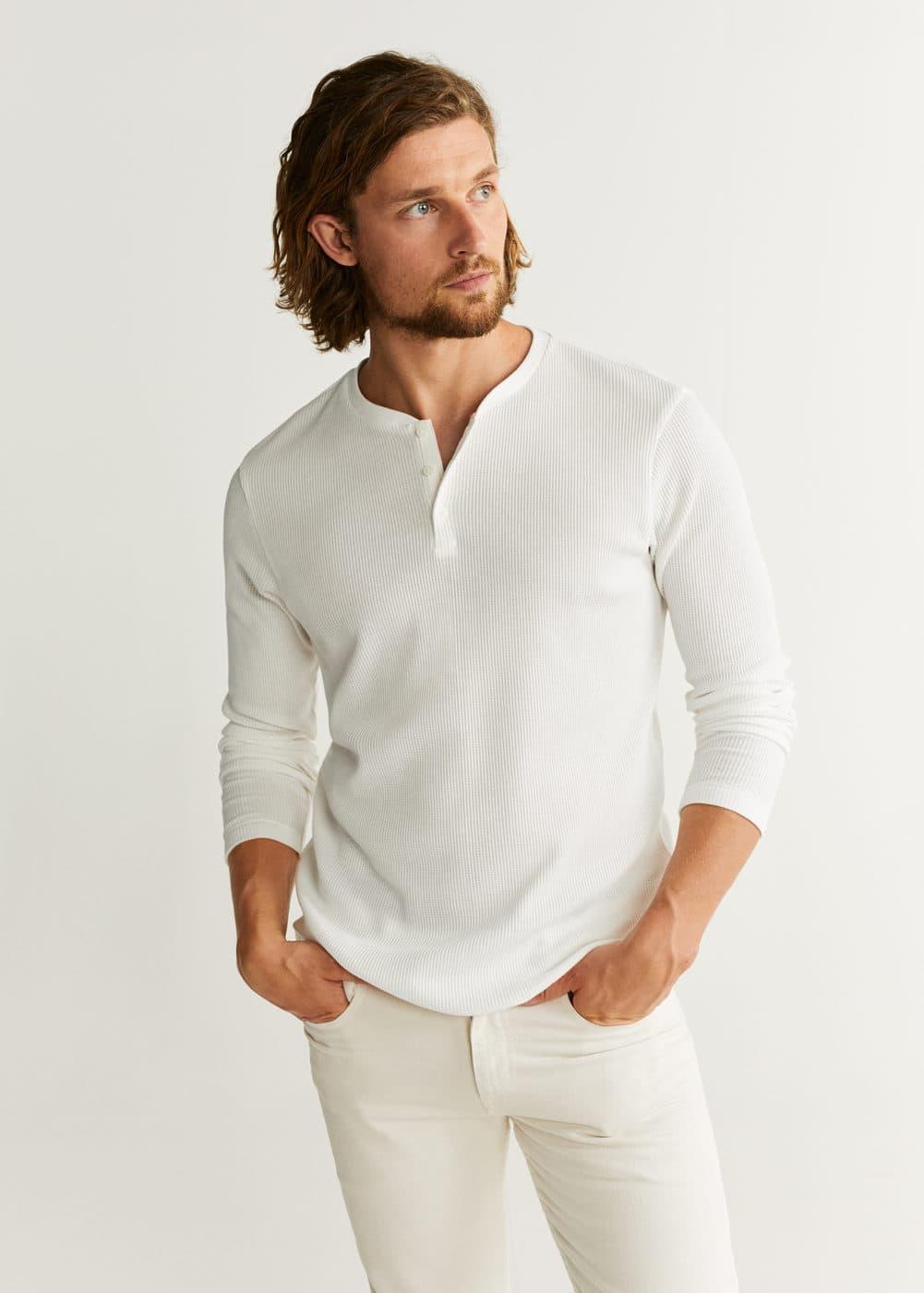 h-oliver:camiseta cuello panadero estructura