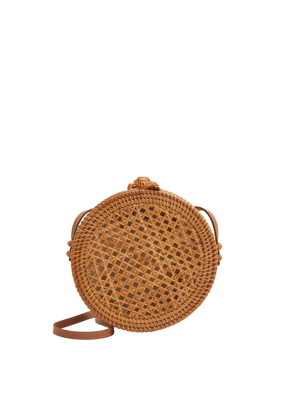 de14faa94b Bamboo round bag - Women | Mango USA
