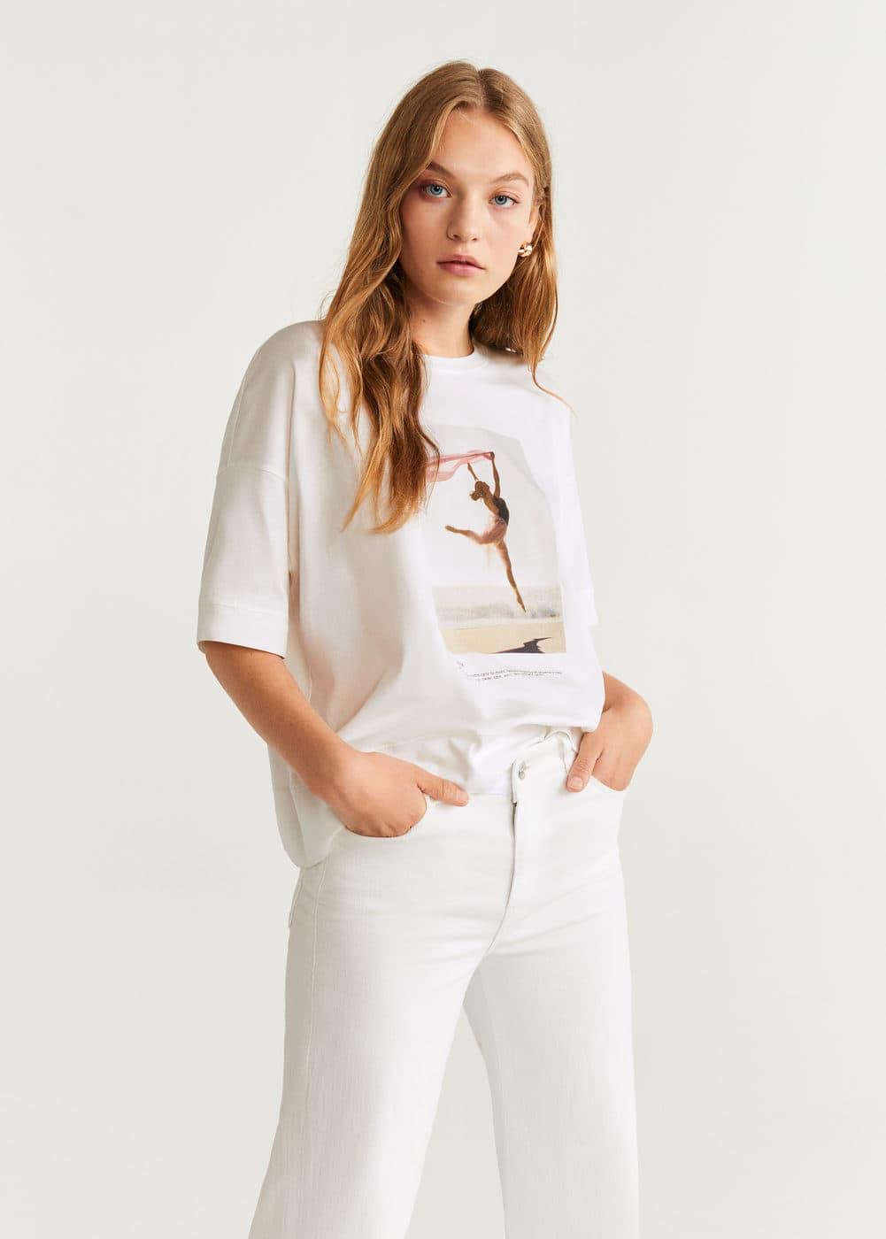 m-bailarin:camiseta algodon dibujo
