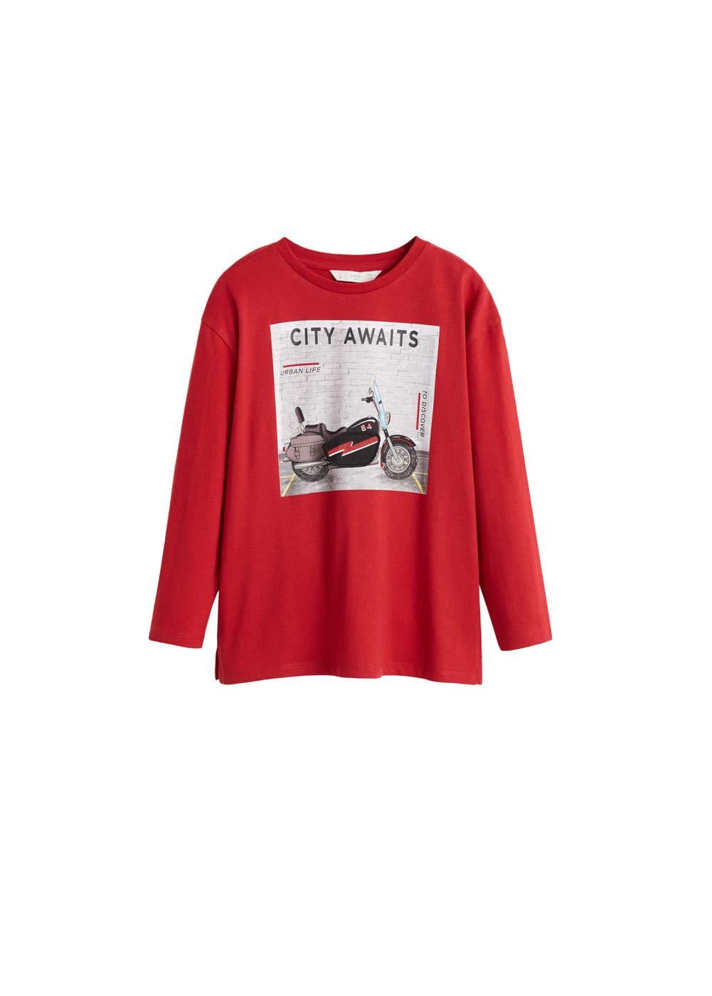 o-flap:camiseta estampada apliques decorativos