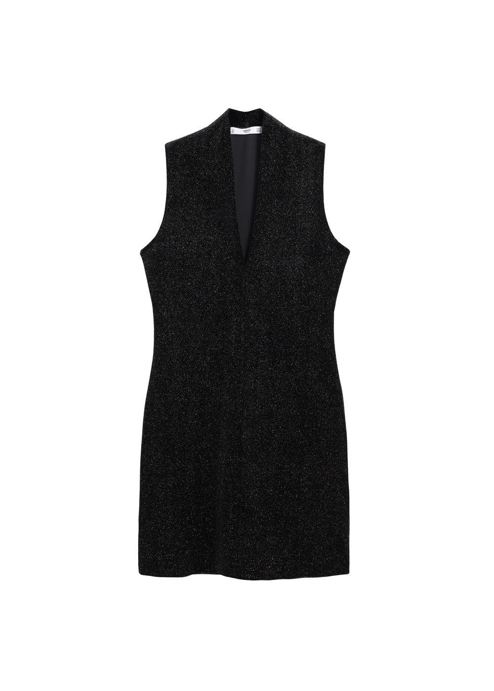 m-vilu:vestido lurex combinado
