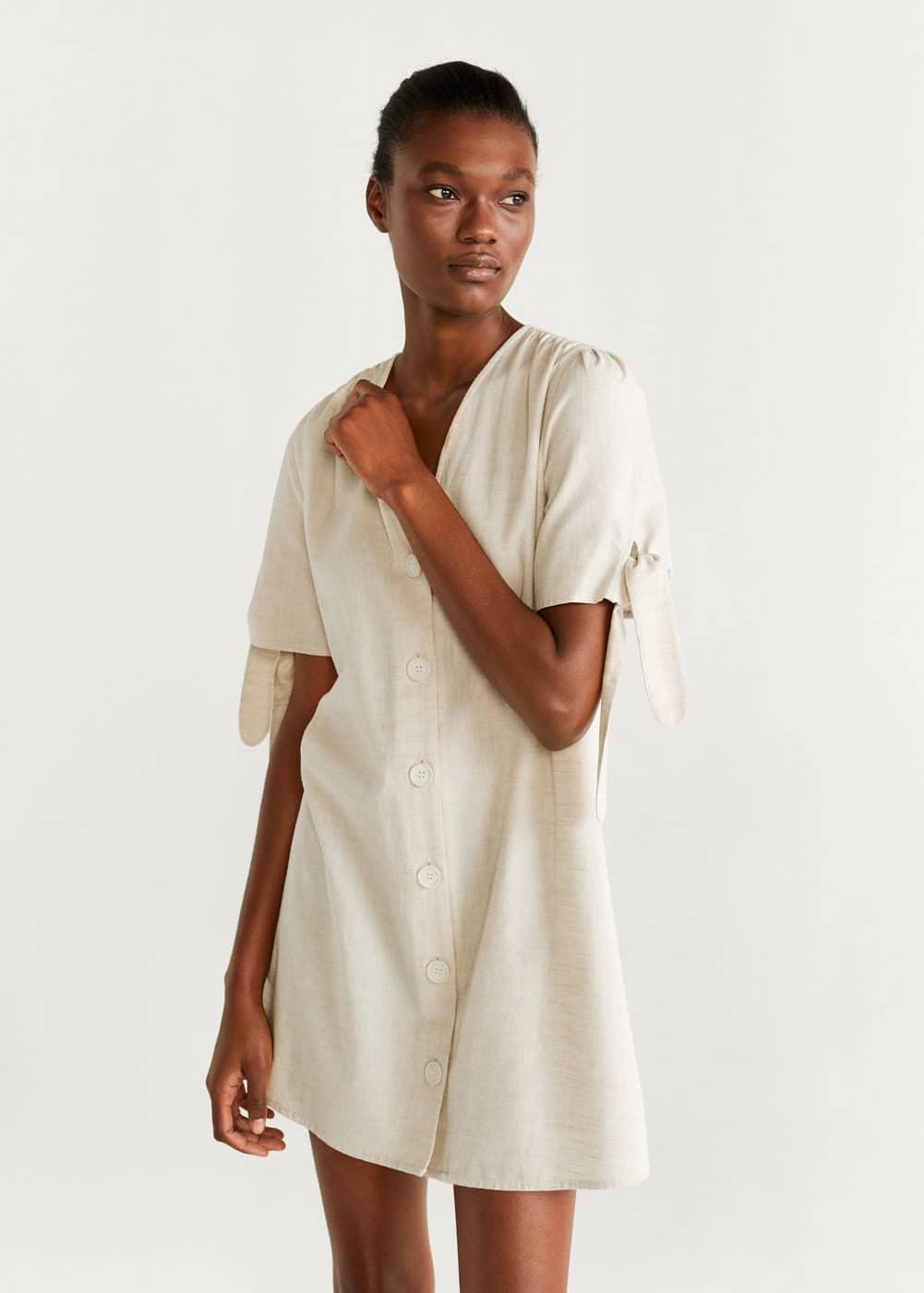 m-sable-h:vestido algodon botones