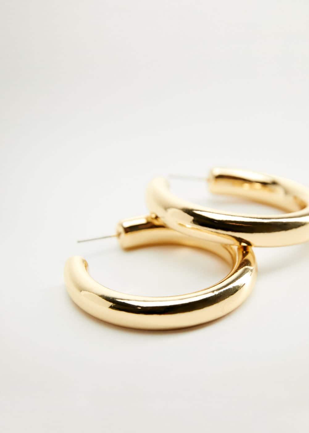 m-cordelia:pendientes aros metalicos