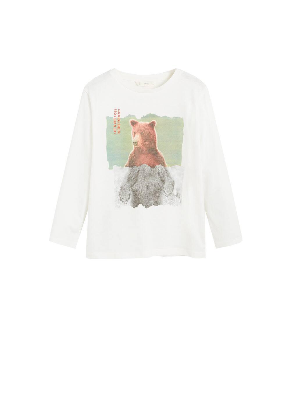 o-grizzle:camiseta estampada oso