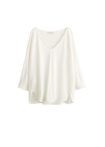 Violeta BY MANGO V-neck t-shirt
