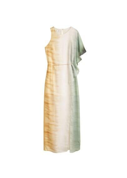 Asymmetrische tie dye jurk