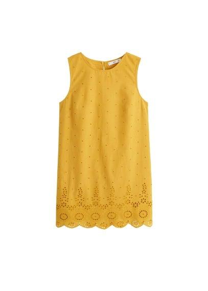 MANGO Embroidered short dress