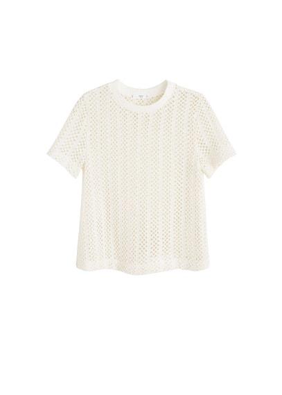 MANGO Openwork cotton top