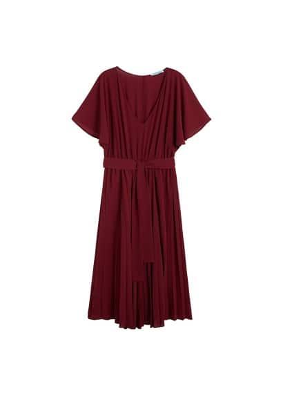 Midi jurk met ceintuur