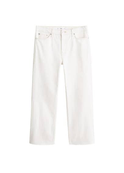 mango - Relaxed jeans mit ausgefranstem saum