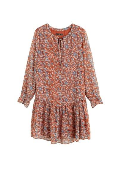 Korte bedrukte jurk