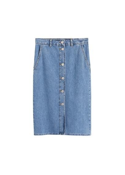 mango - Midi-rock aus jeans