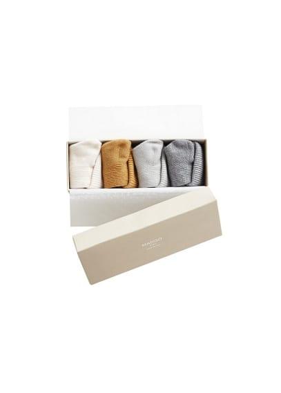 Pack 4paires de chaussettes côtelées