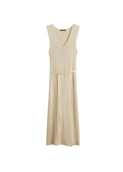 Lange gebreide jurk