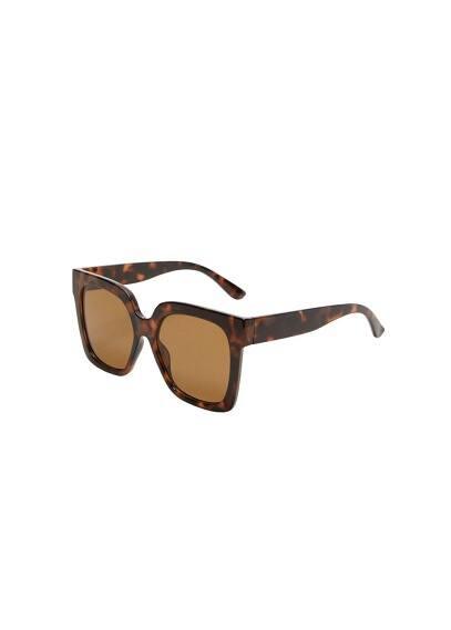 mango - Oversize sonnenbrille aus schildplatt