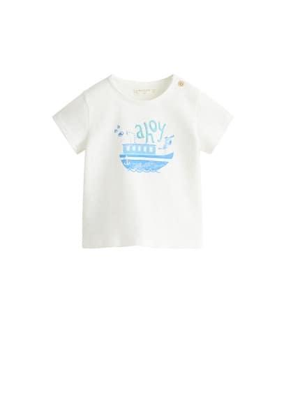 T-shirt brodé imprimé