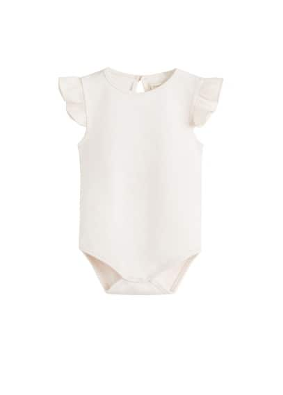Body coton biologique volants