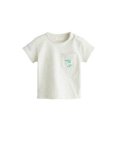 T-shirt coton poche