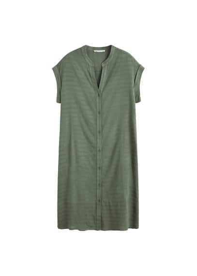 Violeta BY MANGO Buttoned textured dress