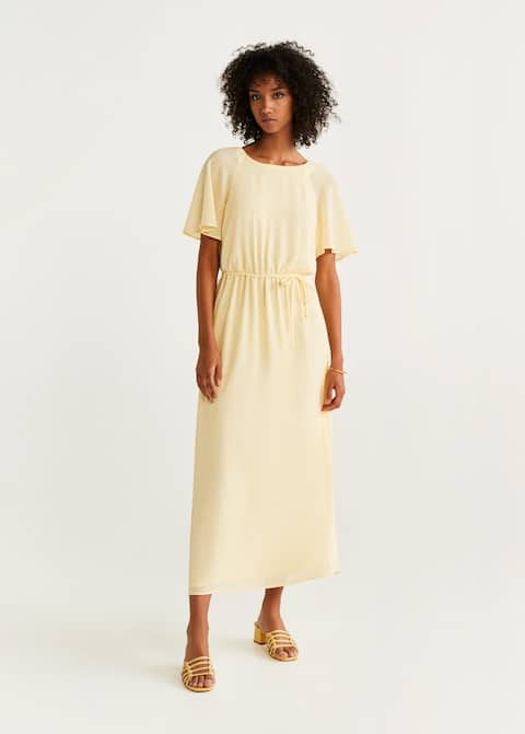 Long textured dress by Mango
