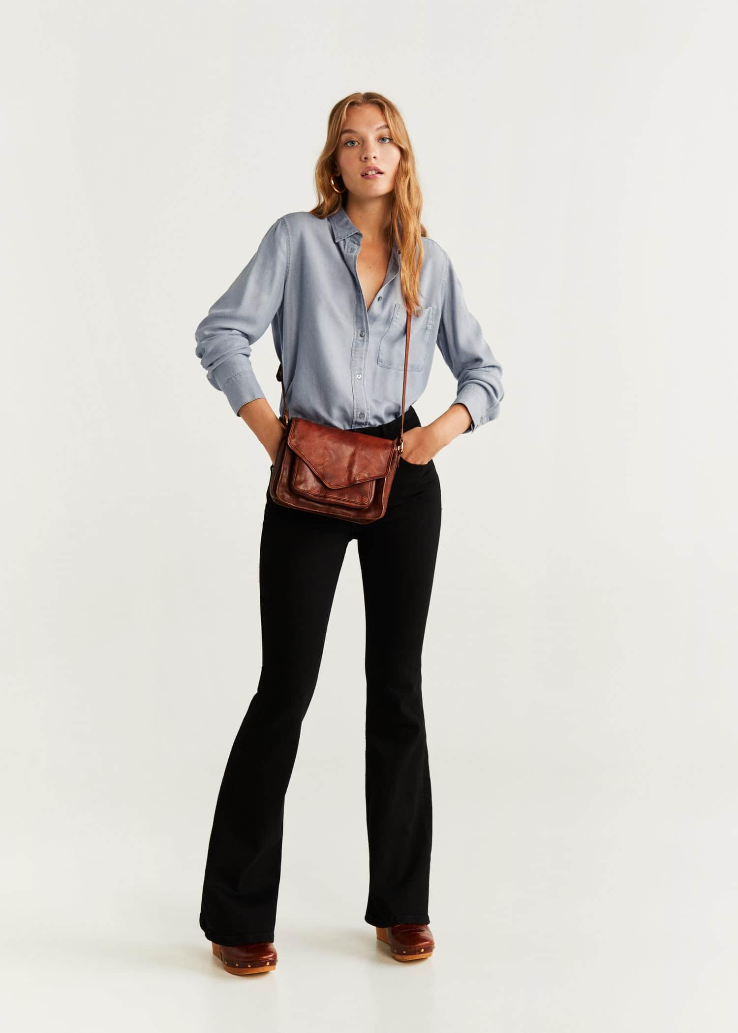 Camisa soft estilo denim Mujer   Mango España