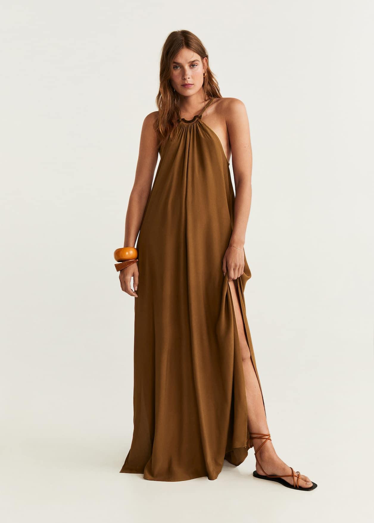 Sukienka dekolt halter