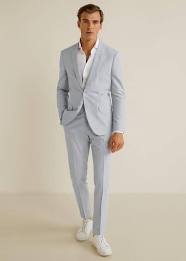 mayor descuento textura clara varios diseños Trajes de Hombre 2019 | Mango Man España